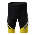 Spakct Cycling Quick-drying Padded Short Pants - Black + Yellow (L)