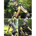 Spakct Printed Cycling Short Jersey Top Shirt - Black + Yellow (L)
