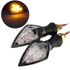 Qook JHBK10500 10-F5 Motorcycle LED Turn Signal Indicator Light (2PCS)
