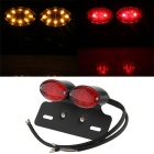 Qook JHBK101001 34-F5 Motorcycle LED Tail Light - Red + Black (DC 12V)