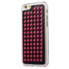 Woven Pattern Back Cover for IPHONE 6 PLUS / 6S PLUS - Black + Red