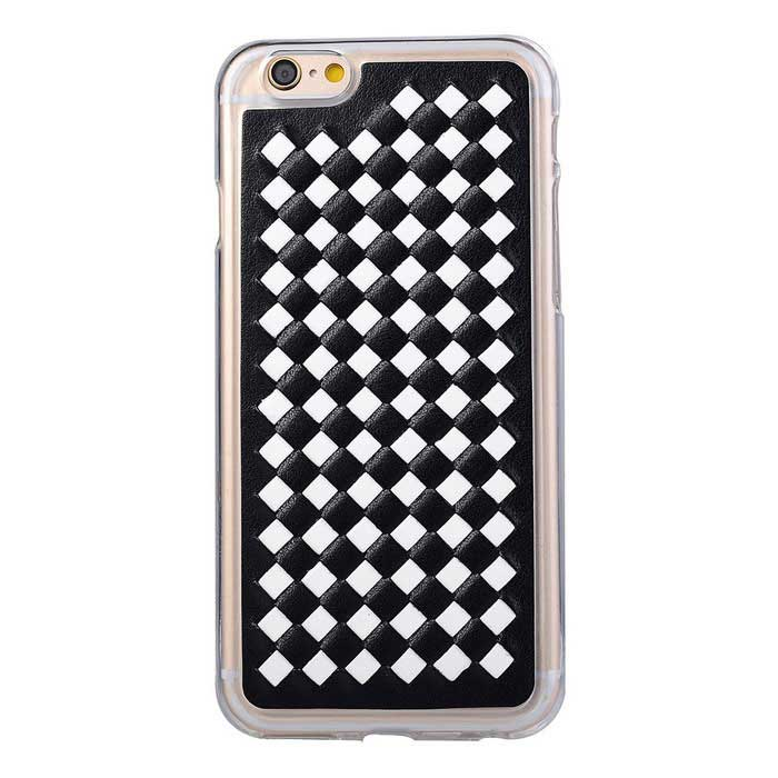 Woven Padrão Capa para iPhone 6 PLUS / 6S PLUS - Black + White