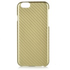 Imitation Carbon Fibre IMD/IML PC Back Case for IPHONE 6/6S - Golden