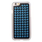 Woven Pattern Back Cover for IPHONE 6 PLUS / 6S PLUS - Black + Blue