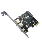 DIEWU PCI-E to USB 3.1 Type-C + USB 3.0 Type-A Expansion Card - Black