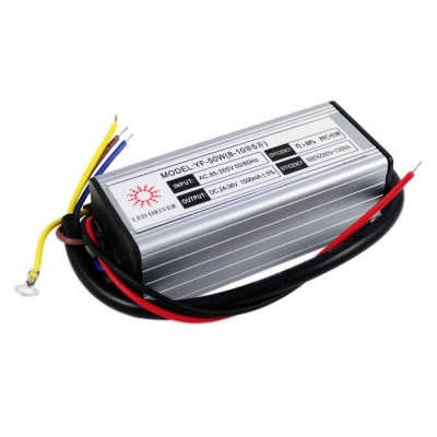 50W IP67 Waterproof Outdoor LED Power Driver - Silver + Black