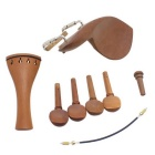 4/4 Violin Chinrest + Tuning Peg + Tailpiece + Tail Gut + Endpin Set