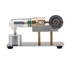 Creative Hot Air Stirling Engine Motor Model Toy - Silver