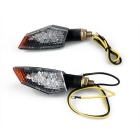 Qook 18-F5 Yellow Light Motorcycle Turn Signal Indicator Lamps (2PCS)