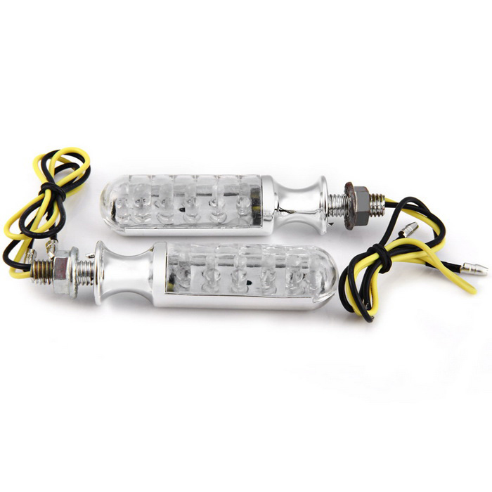 Qook 12-LED Yellow Light Motorcycle Turn Signal Indicator Lamps (2PCS)