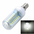 E14 8W LED White Light Corn Bulb - White + Yellow (AC 220~240V)