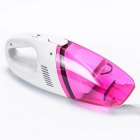 DC 12V Plastic Dust Remover Vacuum Cleaner for Car - Dark Pink + White