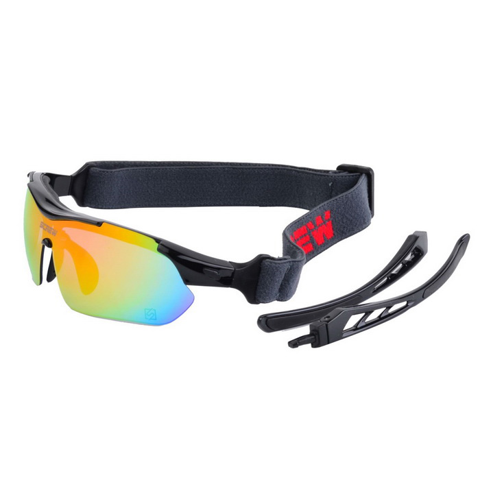 SCREW 9005C1 Outdoor Sports Sunglasses - Black + Red