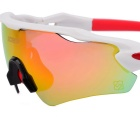 SCREW 6208C2 Sports Goggles Sunglasses - White + Red