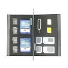 Double Deck 2 SIM + 2 MICRO SIM + 2 NANO SIM + 2 SD + 4 TF Storage Box