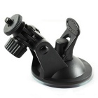 ZIQIAO Car GPS Holder Driving Recorder Suction Cup Bracket - Black
