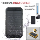 SUNGZU Solar Powered Battery Charger Power Bank - Black