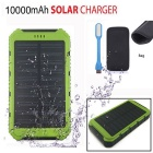SUNGZU Solar Powered Battery Charger Power Bank - Green
