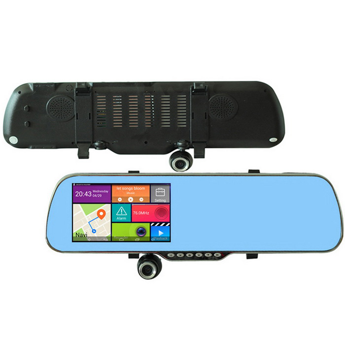 "U-ROUTE 5"" Android zpětné zrcátko GPS Car DVR w / Wi-Fi, 8 GB, map EU"