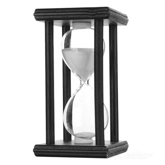 Creative 30 Minutes Hourglass Sand Timer - White + BlackDecorations &amp; Displays<br>Form ColorWhite + BlackMaterialWood + glass + sandQuantity1 DX.PCM.Model.AttributeModel.UnitStyleFashion,ContemporaryPacking List1 * Hourglass<br>