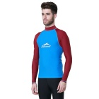 Sbart Men's Scuba Snorkel Diving Surfing Wetsuit - Blue + Red (XXL)