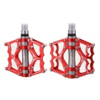 MZYRH Ultra Light Bike Pedals - Red + Silver Grey (Pair)
