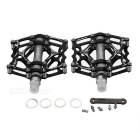 MZYRH Ultra Light Bike Pedals - Black + Silver Grey (Pair)