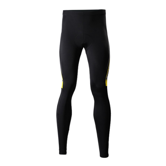 SPAKCT CSY376 Unisex Casual Cycling Padded Long Pants - Black (XL)
