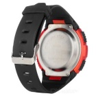 Fashionable Sports Quartz Resin Band Wrist Watch - Orange