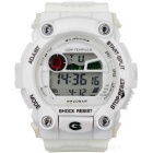 Sports Quartz Digital Wrist Watch w/ Colorful Backlight - White
