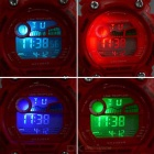 Sports Quartz Digital Wrist Watch w/ Colorful Backlight - Red