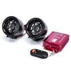 Motorcycle Anti-Theft Alarm Devices w/ Dual Speakers - Black (2PCS)