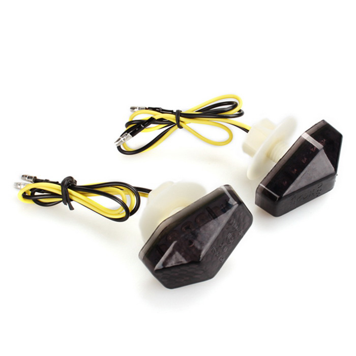 Qook 12-F5 Yellow Motorcycle Turn Signal LED Indicator (12V / 2PCS)