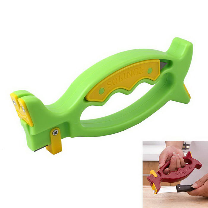 Kitchen Tools Grindstone Knife Sharpener - Green + Multicolor