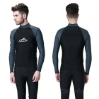 Sbart Men's Scuba Snorkel Diving Surfing Wetsuit - Black (XXL)