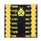 Motor Driver Board Controls 2 DC Motors, IN1 and IN2 Input Signals