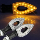 Qook 15-F5 Yellow 90' Bendable Motorbike Turn Signal Light (2PCS)