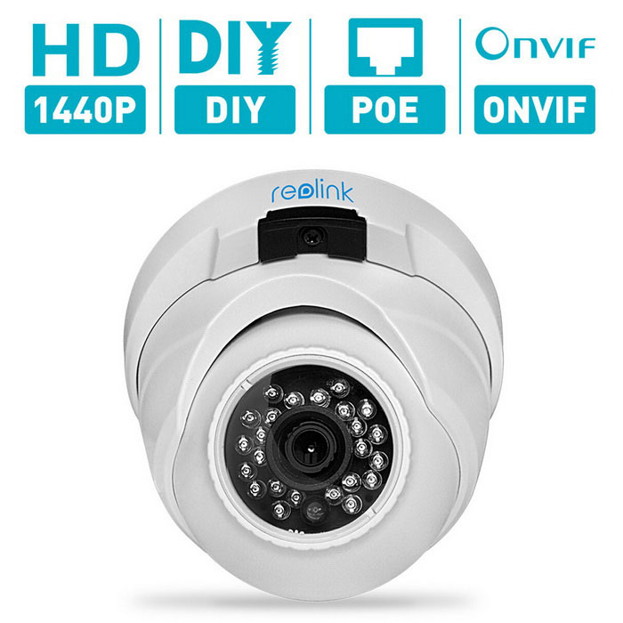 Reolink RLC-420 4MP POE Security IP Camera w/ ONVIF - White