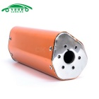 CARKING Iron Head Motorcycle Racing Muffler Exhaust Pipe - Orange