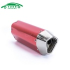 CARKING Iron Head Motorcycle Racing Muffler Exhaust Pipe - Red