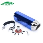 CARKING Iron Head Motorcycle Racing Muffler Exhaust Pipe - Blue