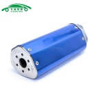 CARKING Carbon Grain Motorcycle Racing Muffler Exhaust Pipe - Blue