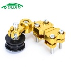 Motorcycle Chopper Aluminum Chain Adjuster Roller - Golden