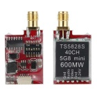 TS5828S 5.8G 600mW 40CH FPV Mini Wireless AV Transmitter - Black