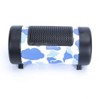 "4"" Portable MP3 Music Subwoofer Speaker w/ TF / USB - Blue (DC 12V)"