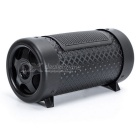 "4"" Portable MP3 Music Rich Bass Speaker w/ TF / USB - Black (DC 12V)"