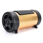 "4"" Portable MP3 Music Rich Bass Speaker w/ TF / USB - Golden (DC 12V)"
