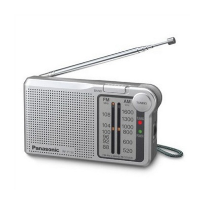 Panasonic RF-P150D AM FM Portable Pocket Speaker Radio - Silver