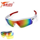 Panlees JH0028 3 Lens Interchangeable Sports Sunglasses - Multicolored