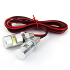 Qook bicyclette blanche moto LED plaque d'immatriculation (12V / 2PCS)